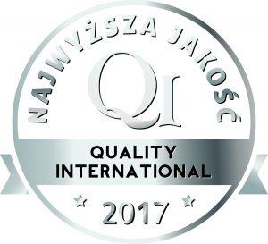 Certyfikat Najwyższa Jakość Quality International 2017