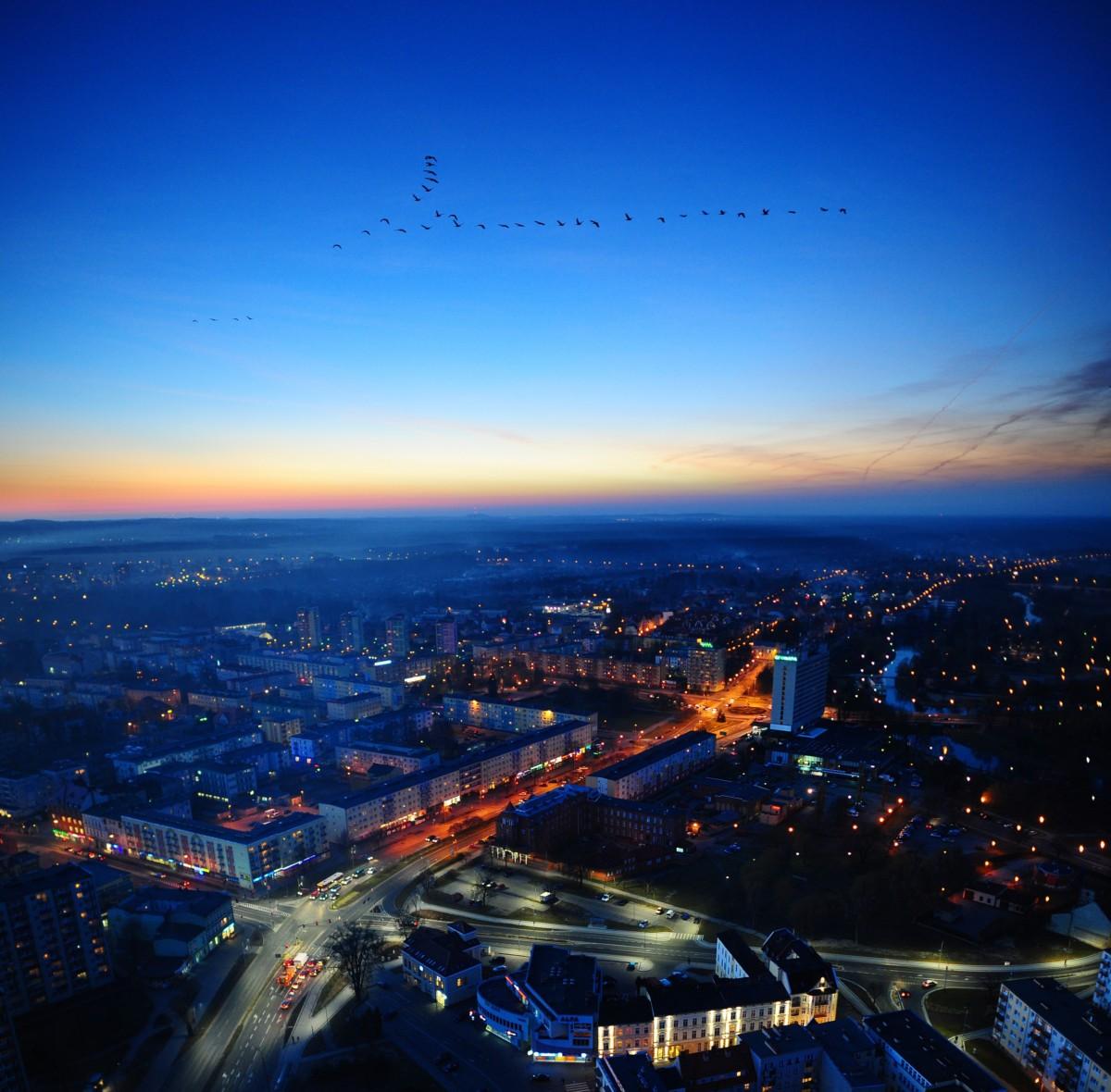 Panorama Piły z lotu ptaka