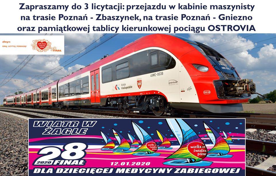 WOŚP i Koleje Wielkopolskie - licytacja