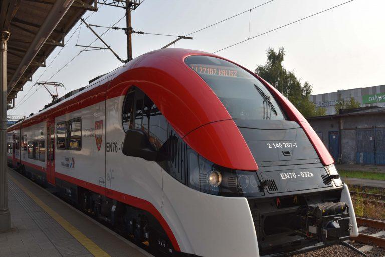 Pociąg Kolei Wielkopolskich do Kalisza
