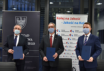 Podpisaliśmy umowę na obsługę wojewódzkich kolejowych przewozów pasażerskich do 2030 roku