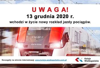 13.12.2020 – nowy rozkład jazdy – co nowego dla naszych Podróżnych?
