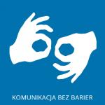 Ikona przedstawiająca symbol języka migowego