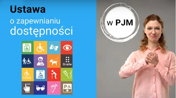 Grafika z informacją o ustawie o zapewnieniu dostępności w PJM