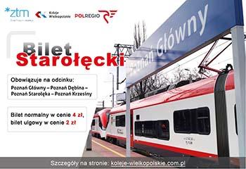 Bilet Starołęcki – szybki sposób na dotarcie do centrum Poznania
