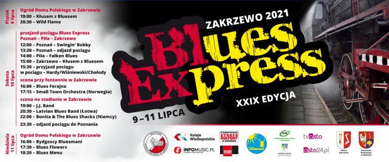 banner promujący pociąg Blues Express
