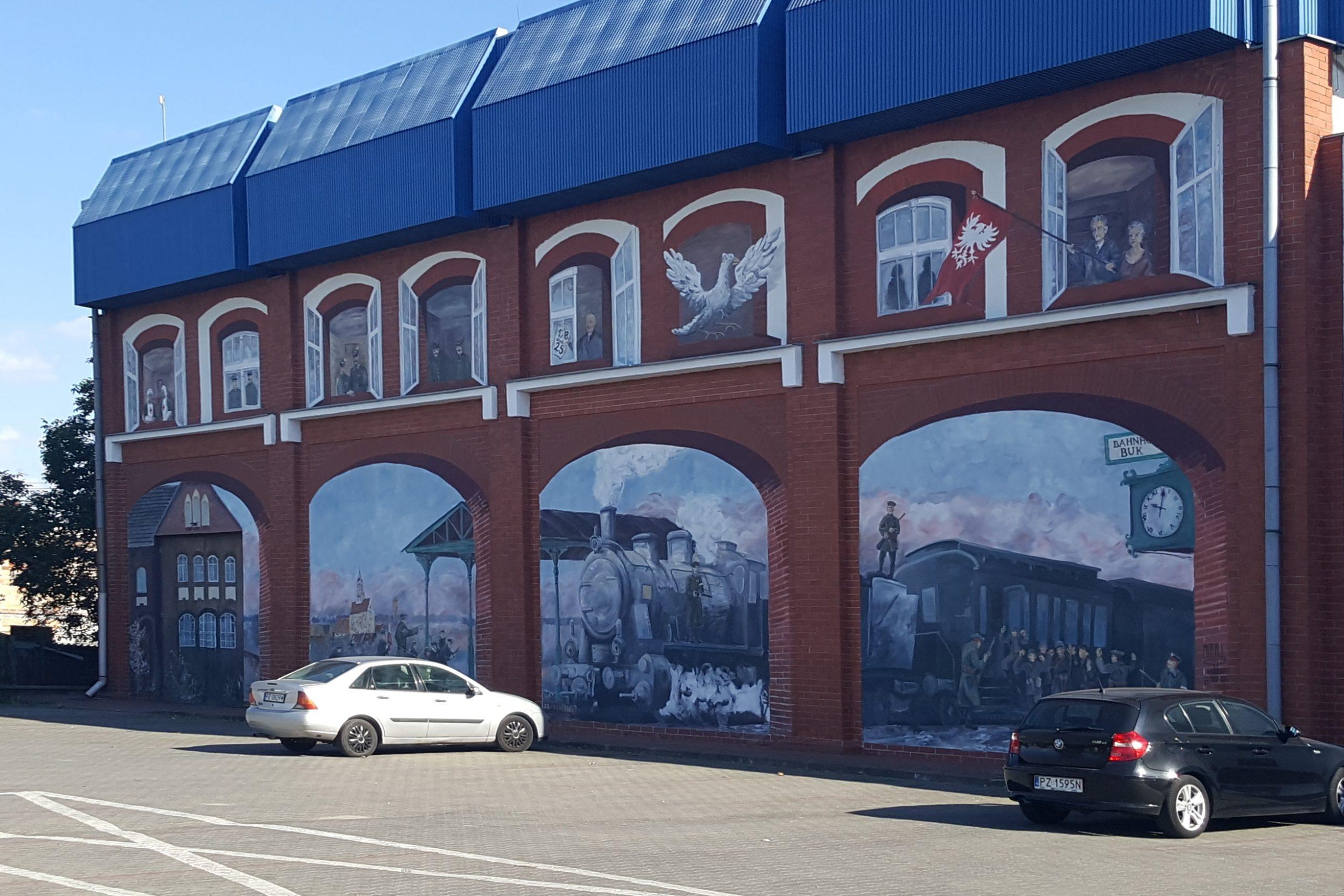 Powstańczy mural w Buku