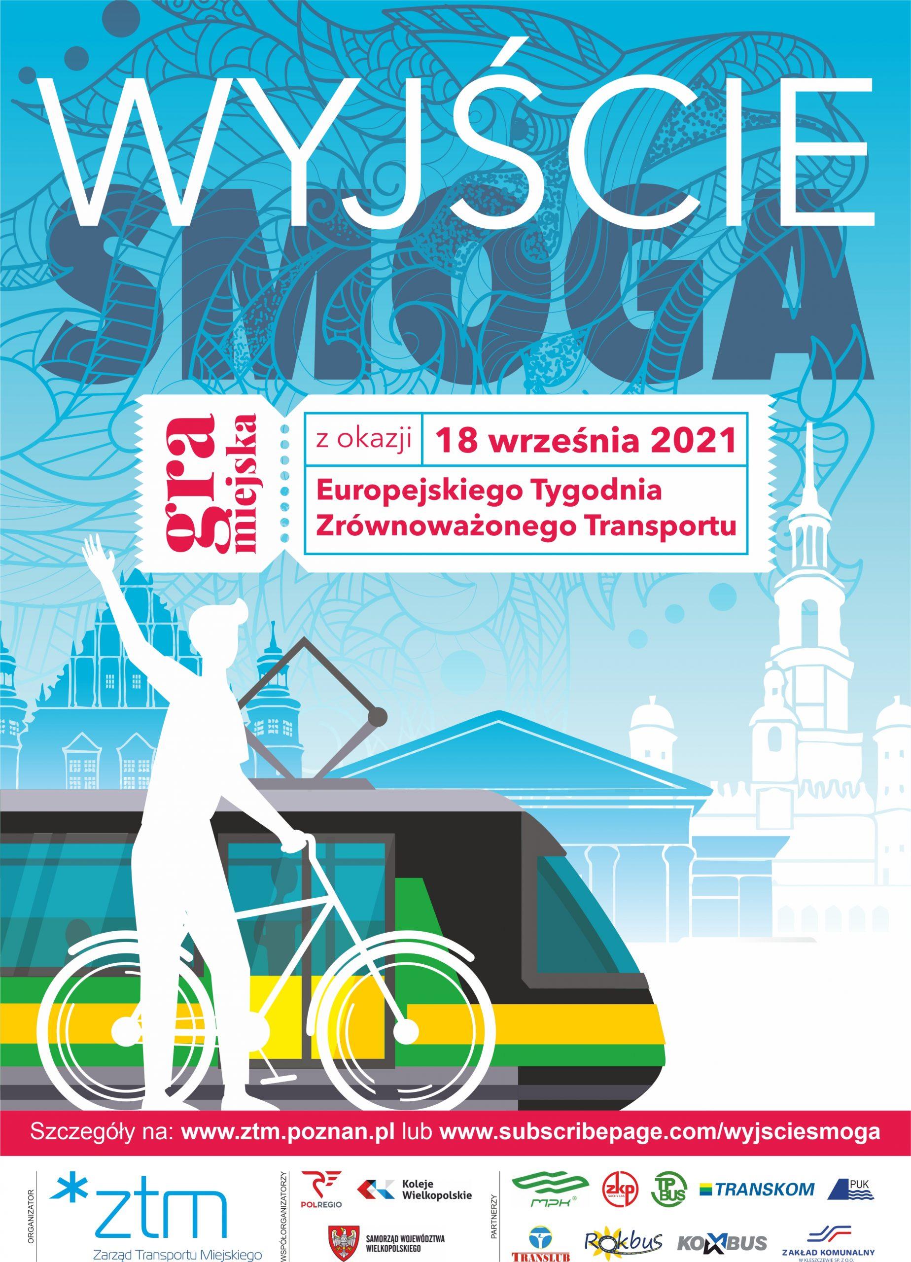 Plakat promujący grę miejską Wyjście Smoga