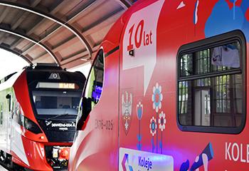 Uroczystość 10-lecia uruchomienia pierwszego pociągu Kolei Wielkopolskich
